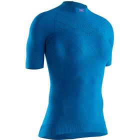 X-Bionic Twyce G2 Run Shirt SS Women teal blue/neon flamingo